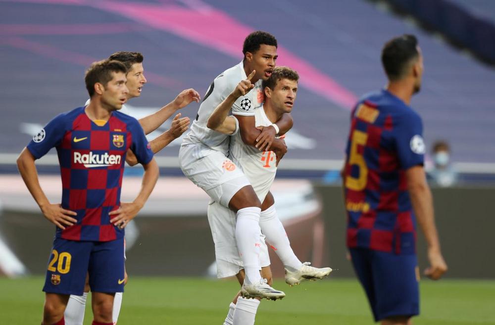 «Бавария» катком прошлась по «Барселоне» в 1/4 финала Лиги чемпионов сезона 2019/2020