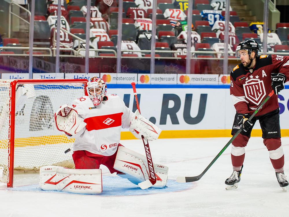 Рижане открыли счёт в матче, однако развить успех им не удалось - победил «Спартак»