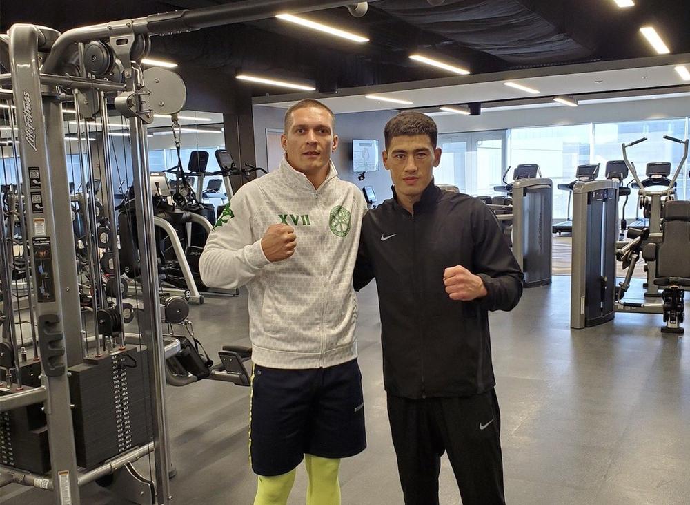 Александр Усик и Дмитрий Бивол