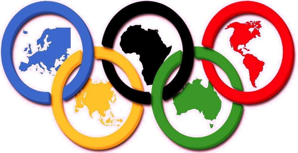 Соответствие колец в логотипе и континентов