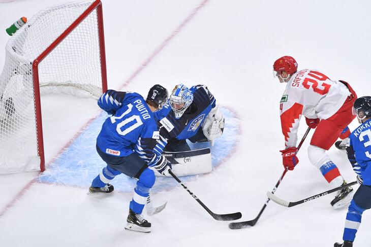 Сборная России уступила в матче за бронзовые медали молодежного чемпионата мира команде Финляндии со счетом 1:4