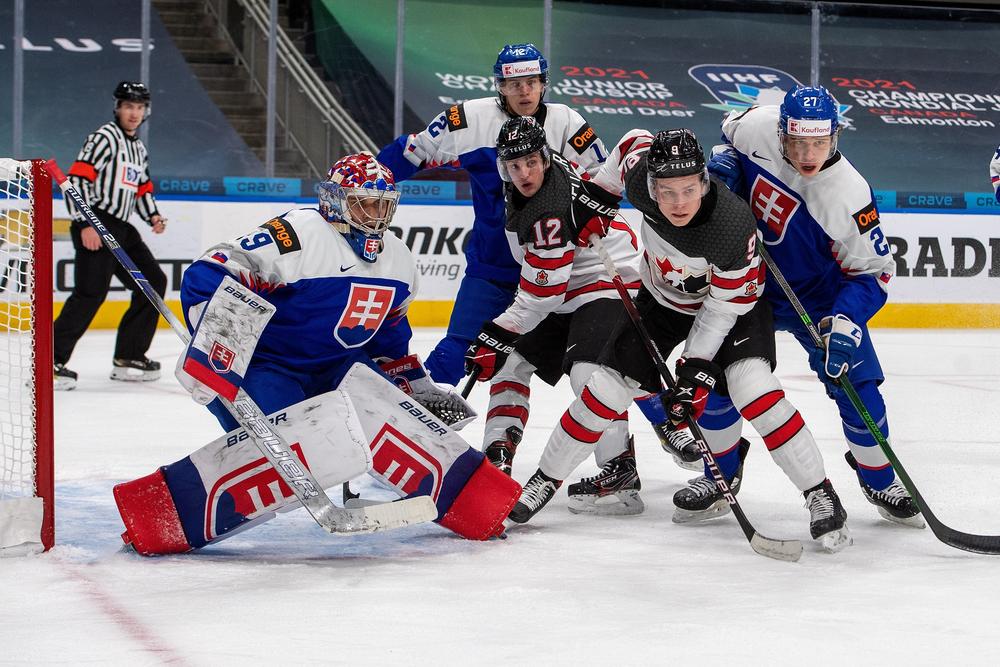 Канада в матче со Словакией