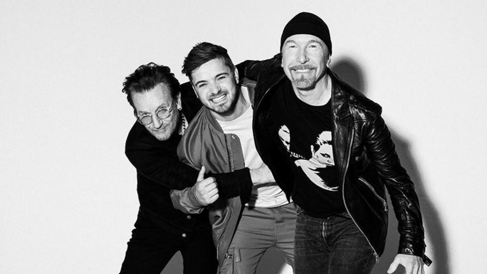 Мартин Гаррикс и звёзды группы U2