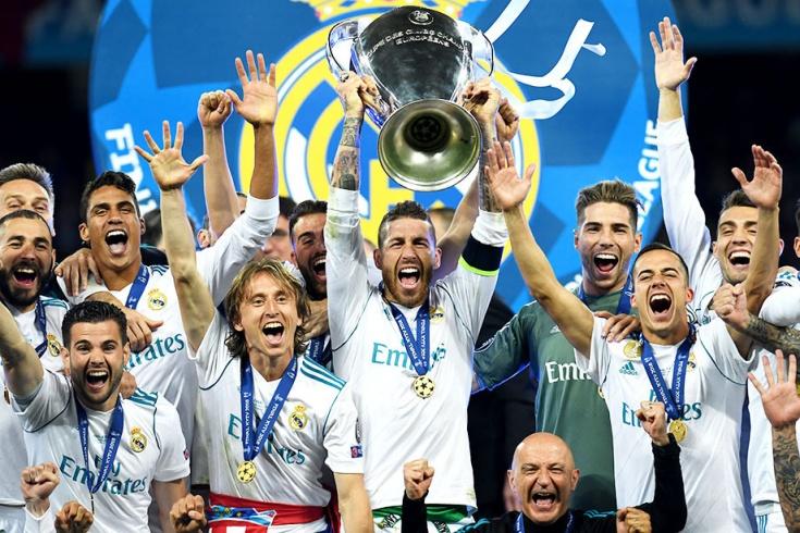 «Реал» Мадрид празднует победу в Лиге чемпионов 2017/18