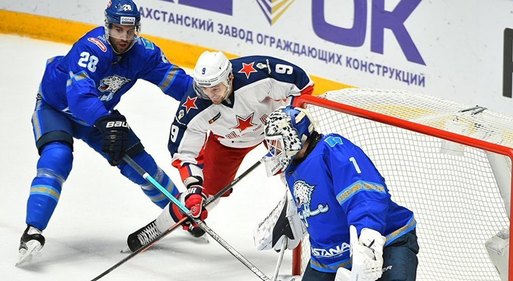 «Барыс» на домашней арене примет московский ЦСКА в матче регулярного чемпионата КХЛ
