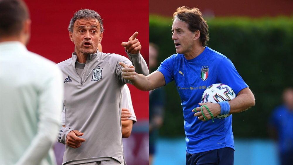 Луис Энрике vs Роберто Манчини